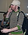 clay aiken bucket hat airport 01
