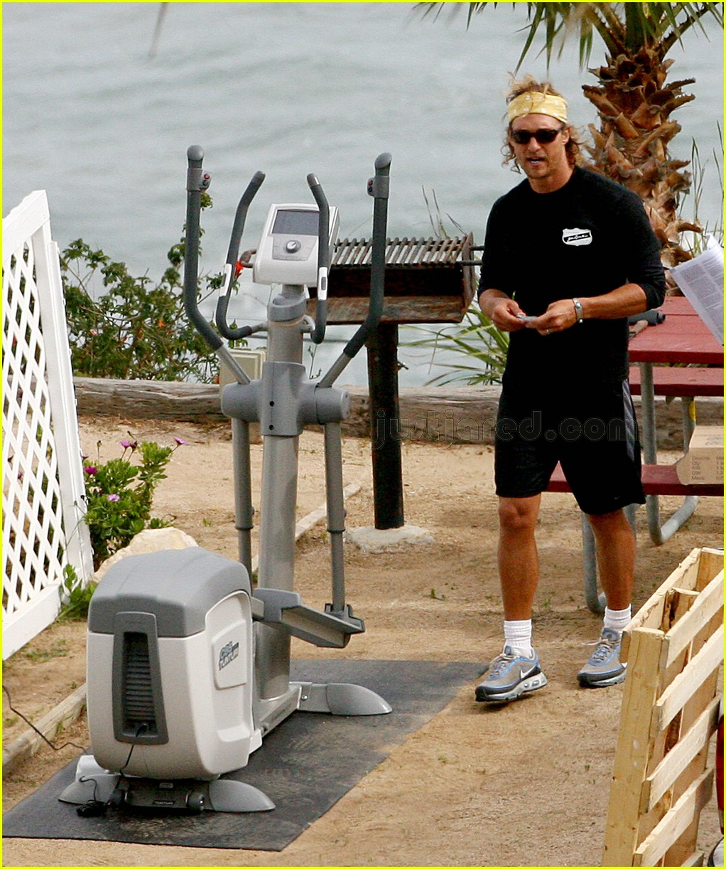 matthew mcconaughey elliptical exercise machine 10