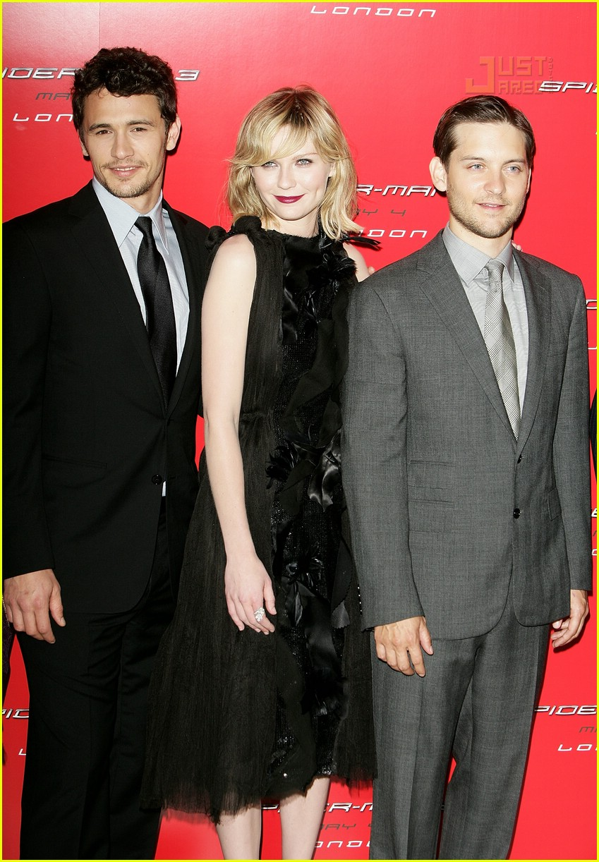 james franco tobey maguire kirsten dunst spider man 3 uk premiere 02