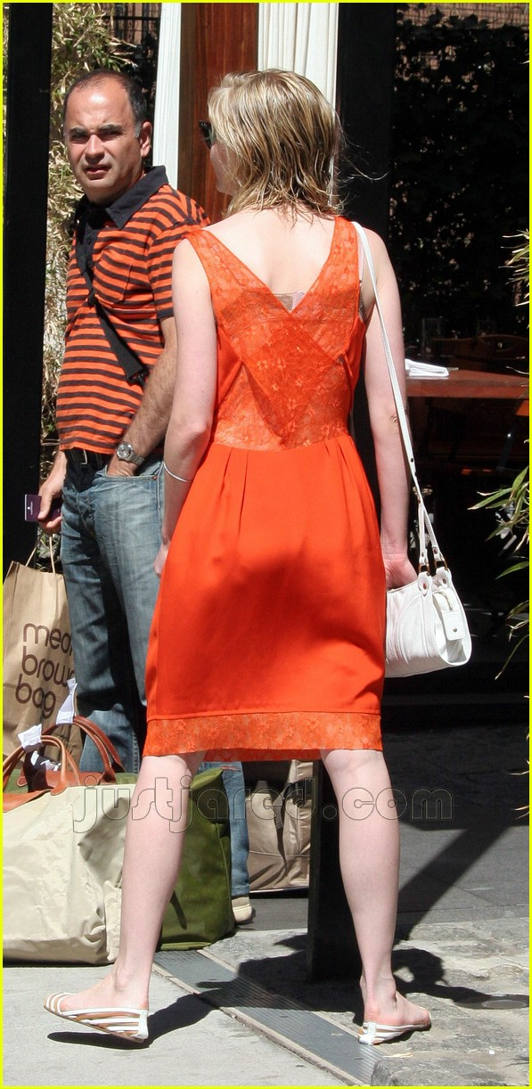 kirsten dunst orange dress 05152561
