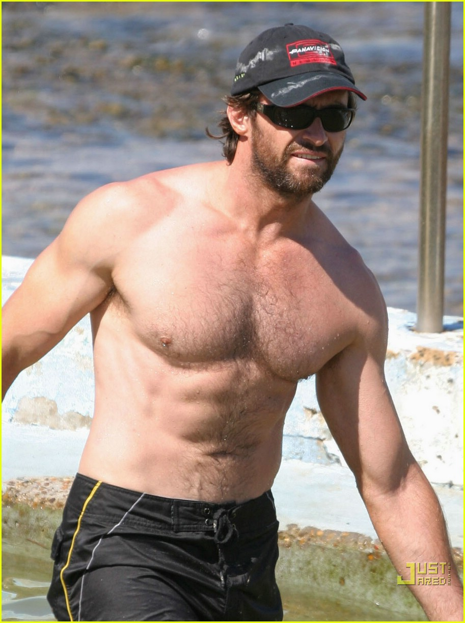 hugh jackman shirtless stallion 03