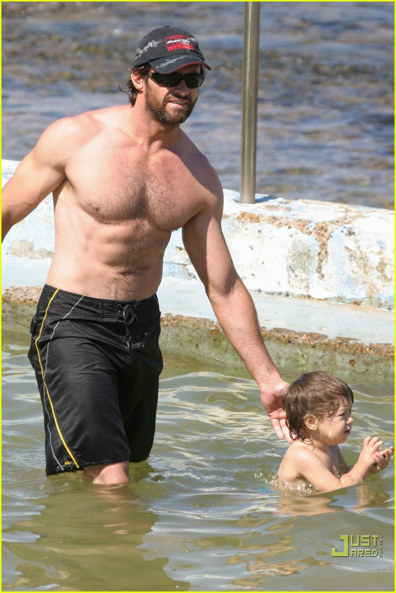 hugh jackman shirtless stallion 06