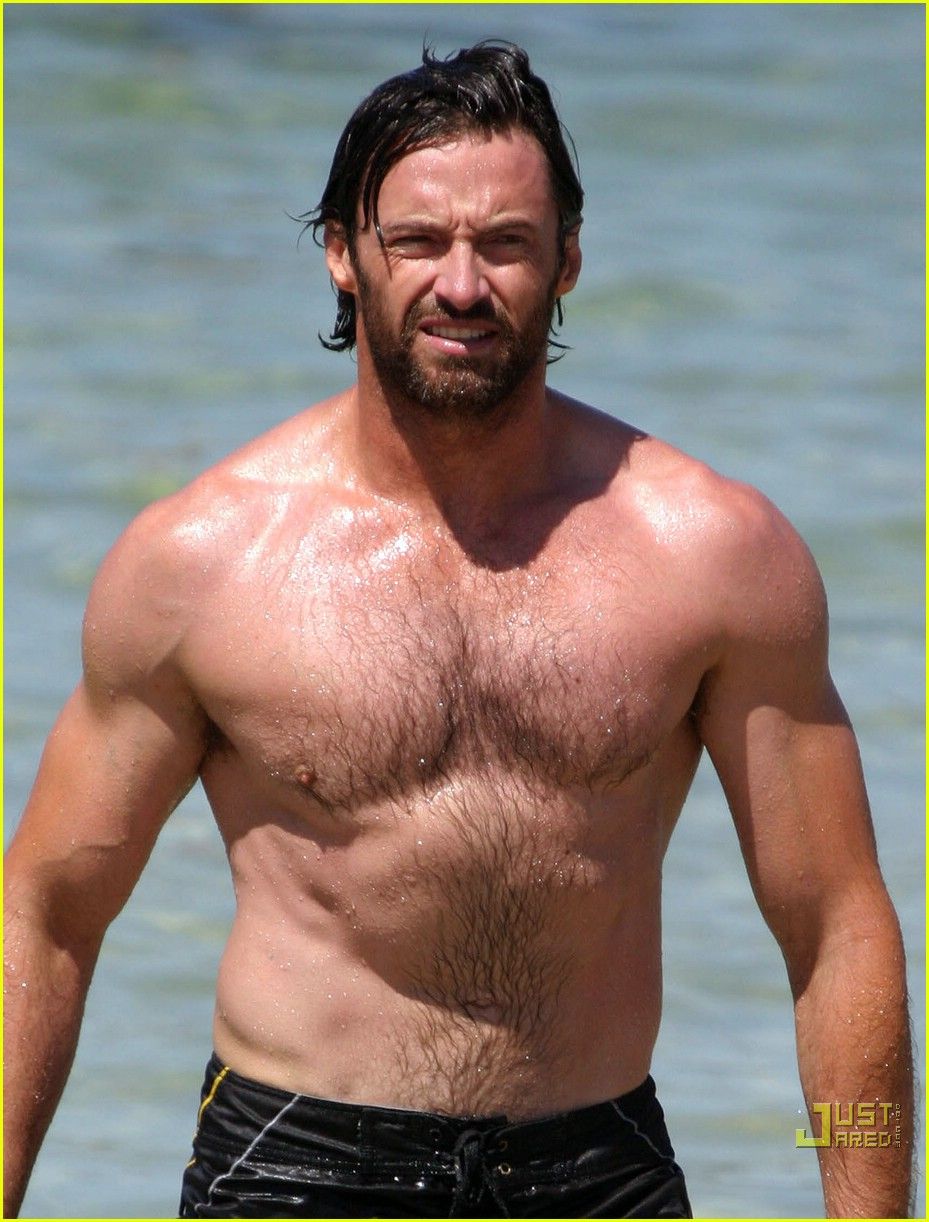 hugh jackman shirtless stallion 10
