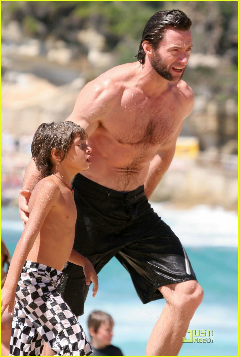 hugh jackman washboard abs 10