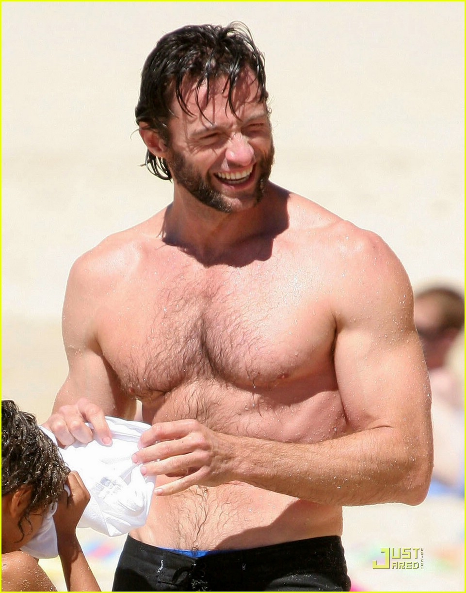 hugh jackman washboard abs 20