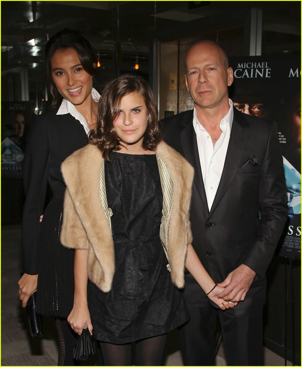 Photo of Bruce Willis & his  Daughter  Tallulah