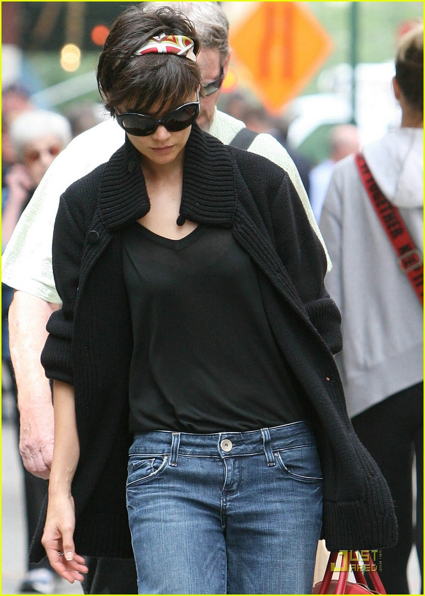 Full Sized Photo of katie holmes wide leg jeans 02   Photo ... Katie Holmes