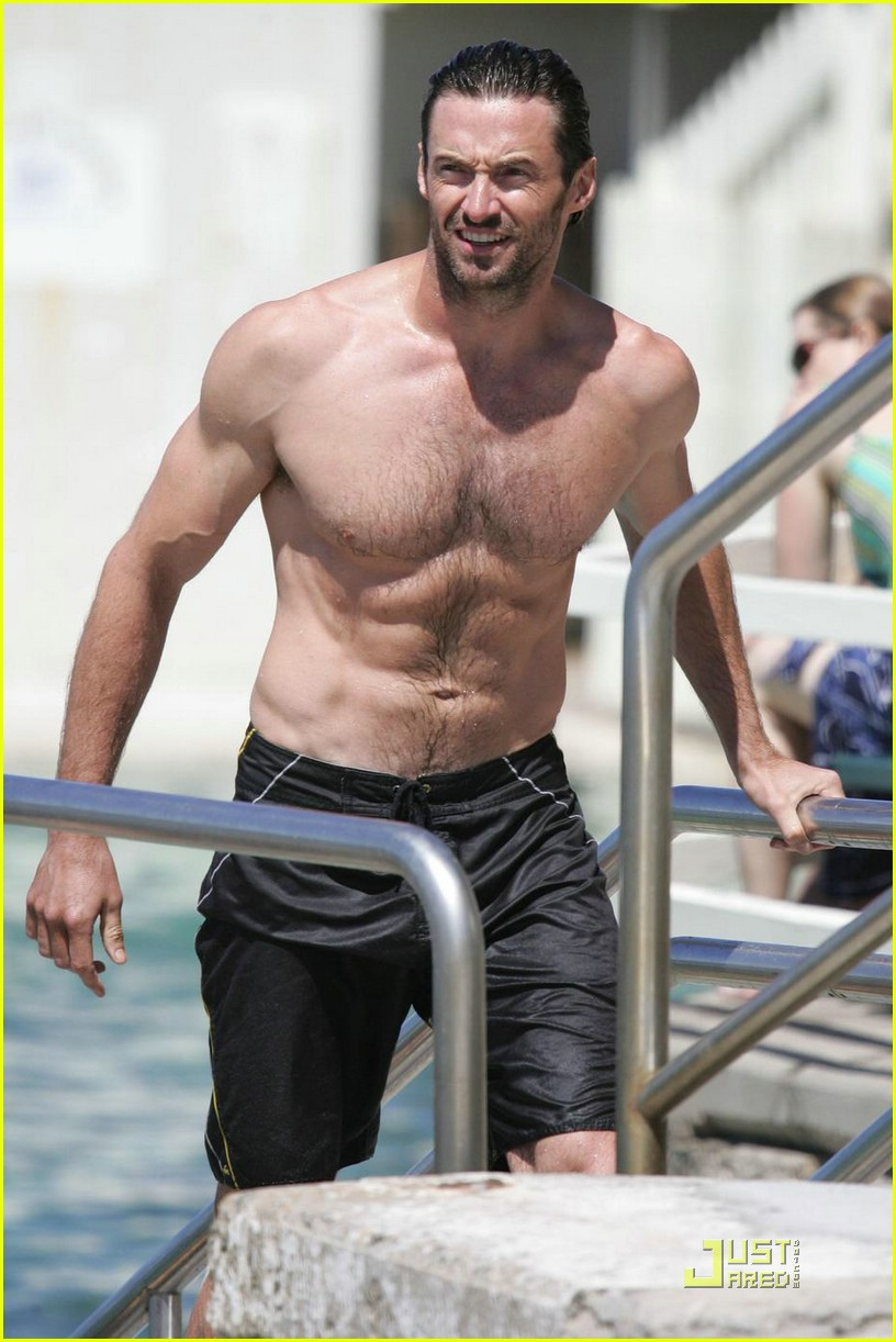 hugh jackman six pack stomach 03