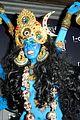heidi klum blue indian goddess halloween 08