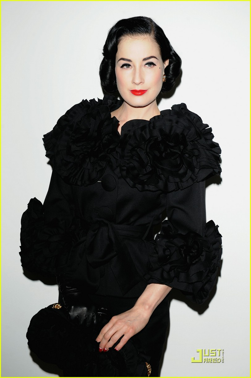 Full Sized Photo of dita von teese elie saab fashion show ... Dita Von Teese