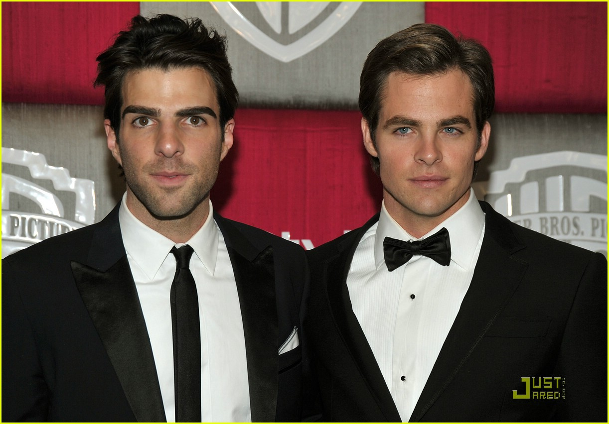chris pine zachary quinto golden globes 2009 22
