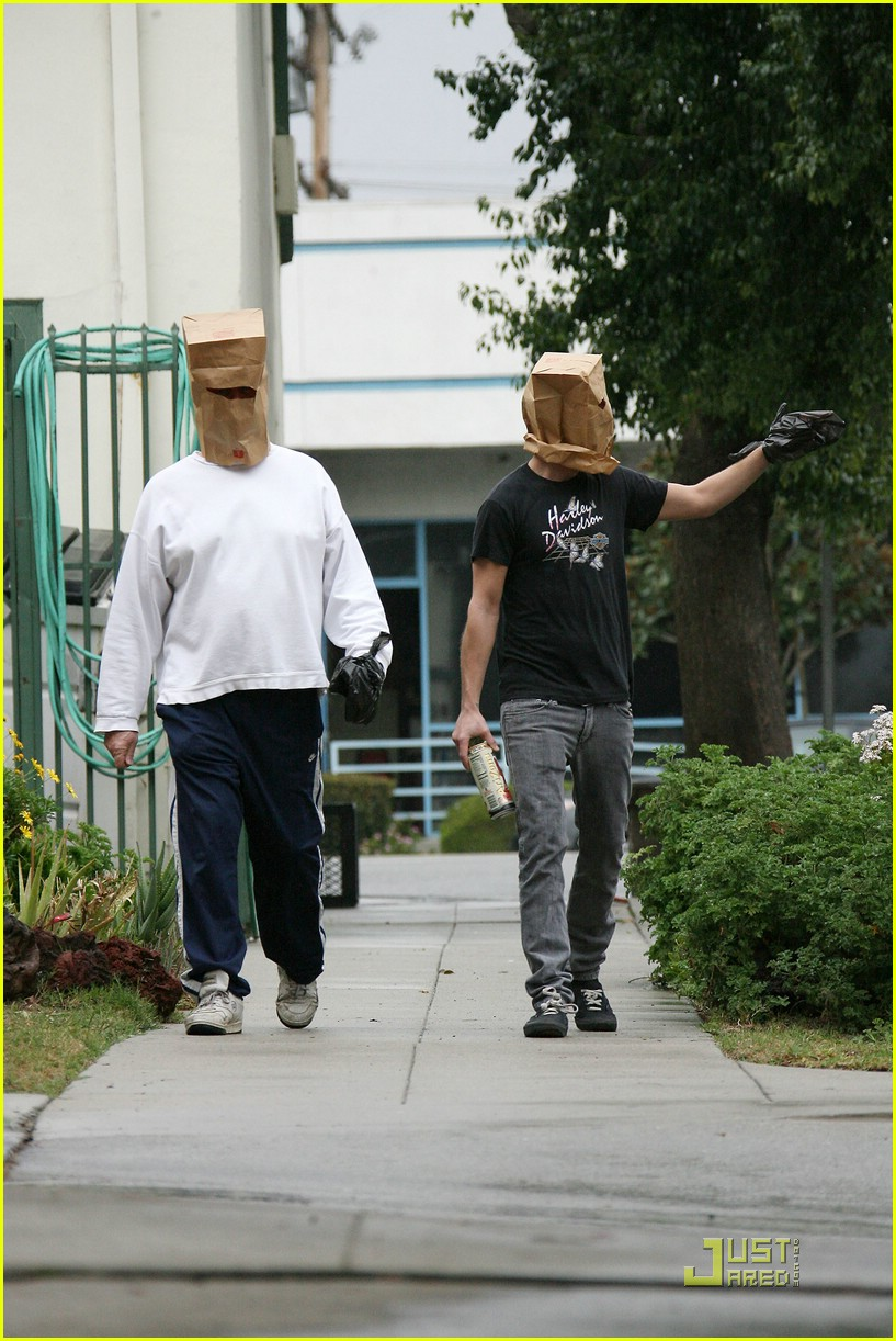 shia labeouf paper bag head 11
