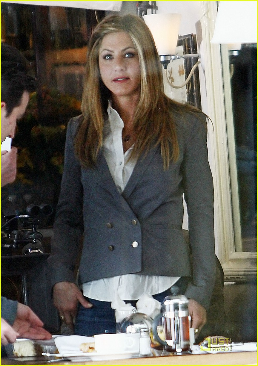 Jennifer Aniston Suits Up for The Baster