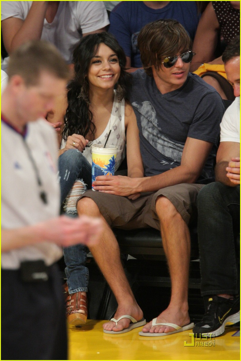 zac efron vanessa hudgens lakers 25