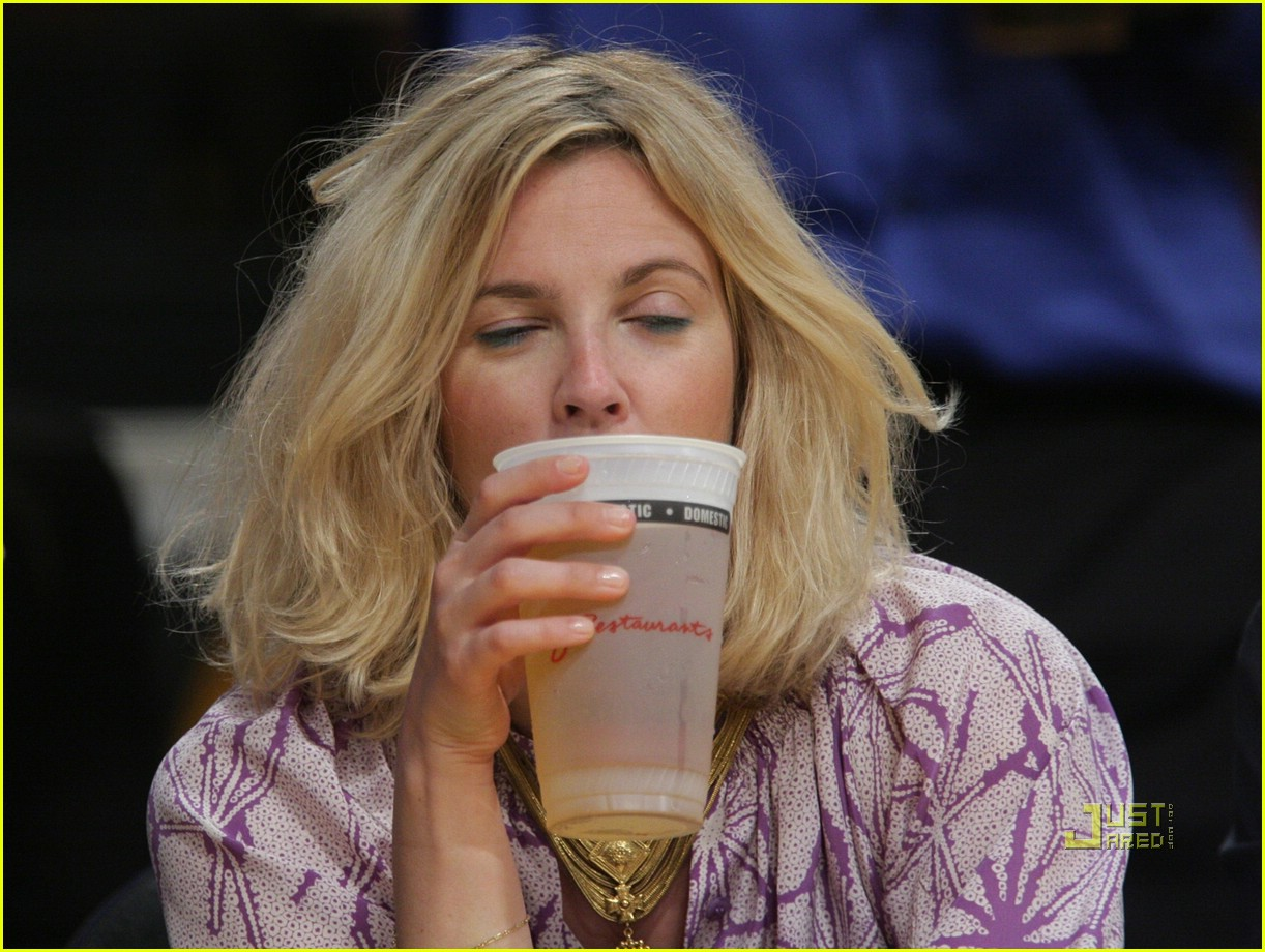 drew barrymore lakers game 12
