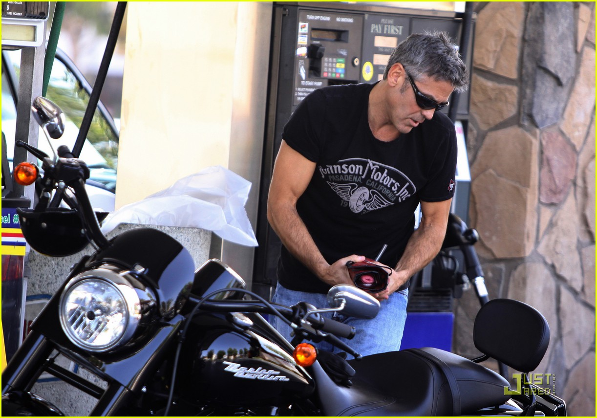 Full Sized Photo of george clooney motorcycle 01 | Photo ...