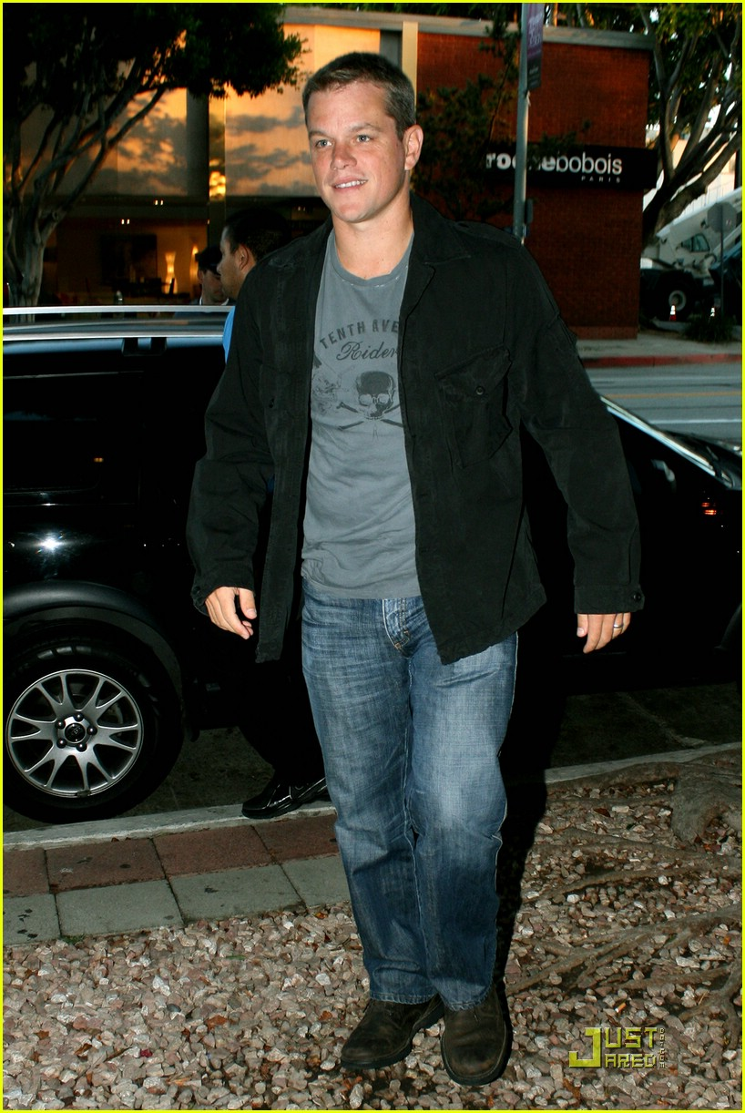 matt damon dinner date 04