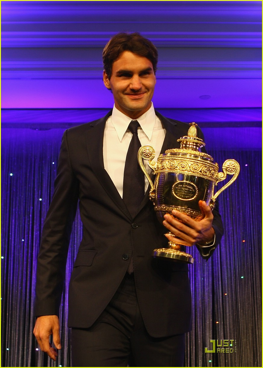 roger federer serena williams take their trophies 13
