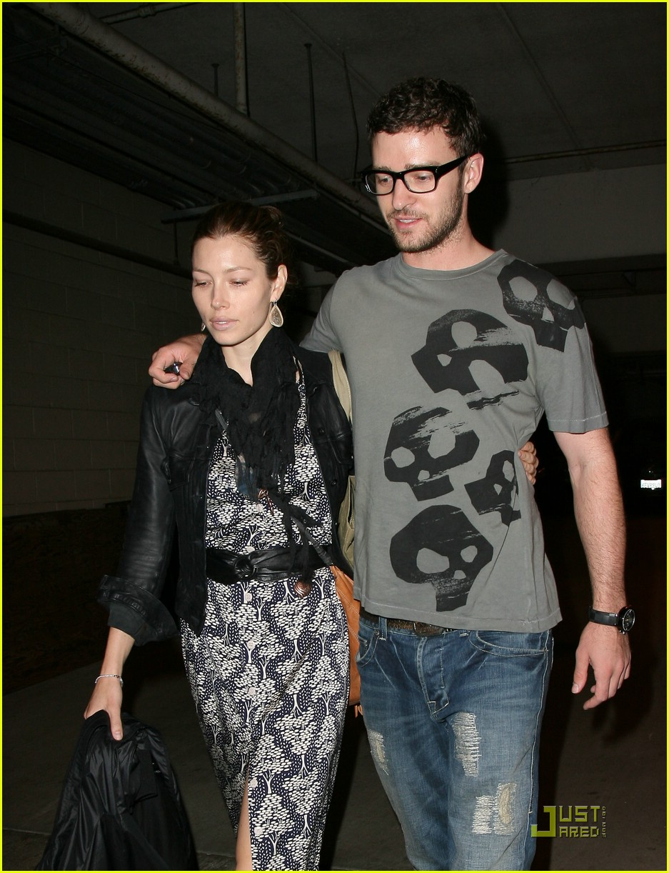 justin timberlake jessica biel hollywood bowl 03