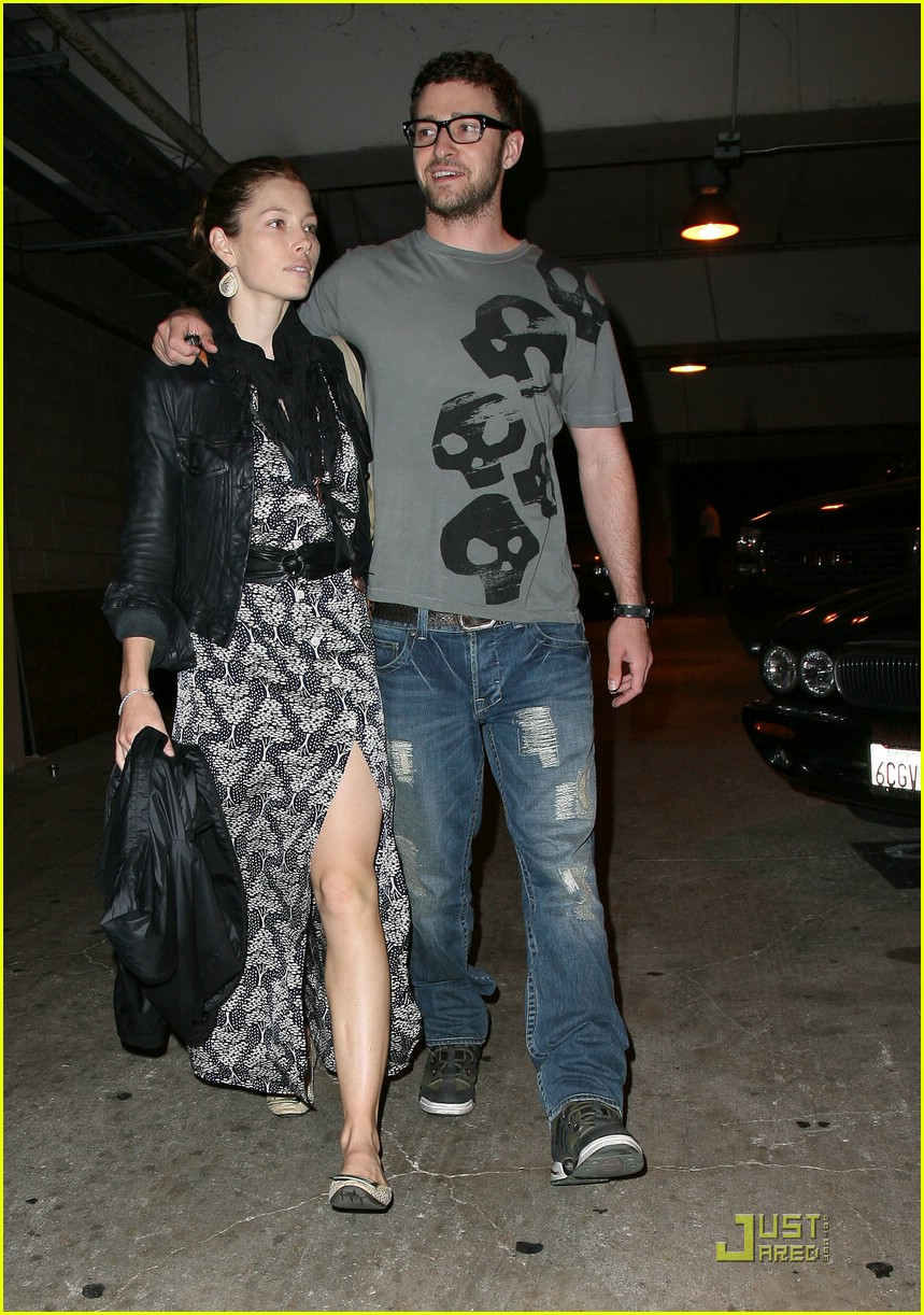 justin timberlake jessica biel hollywood bowl 05