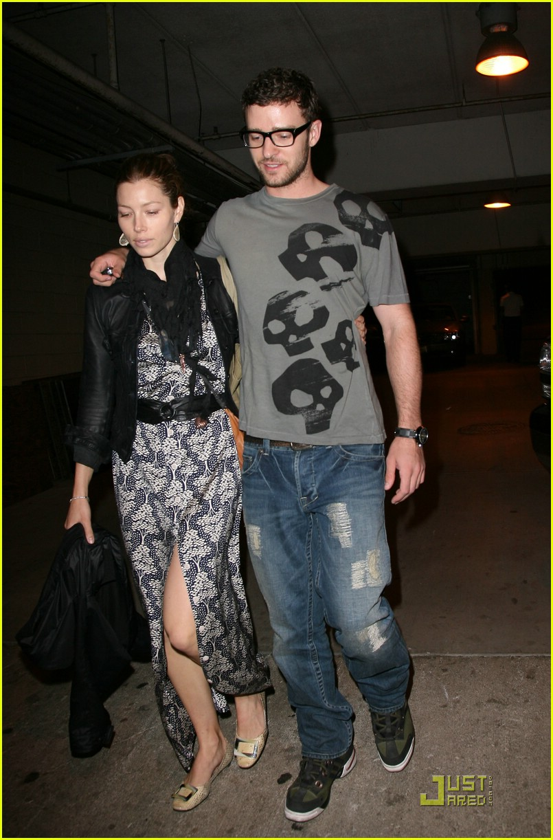 justin timberlake jessica biel hollywood bowl 07