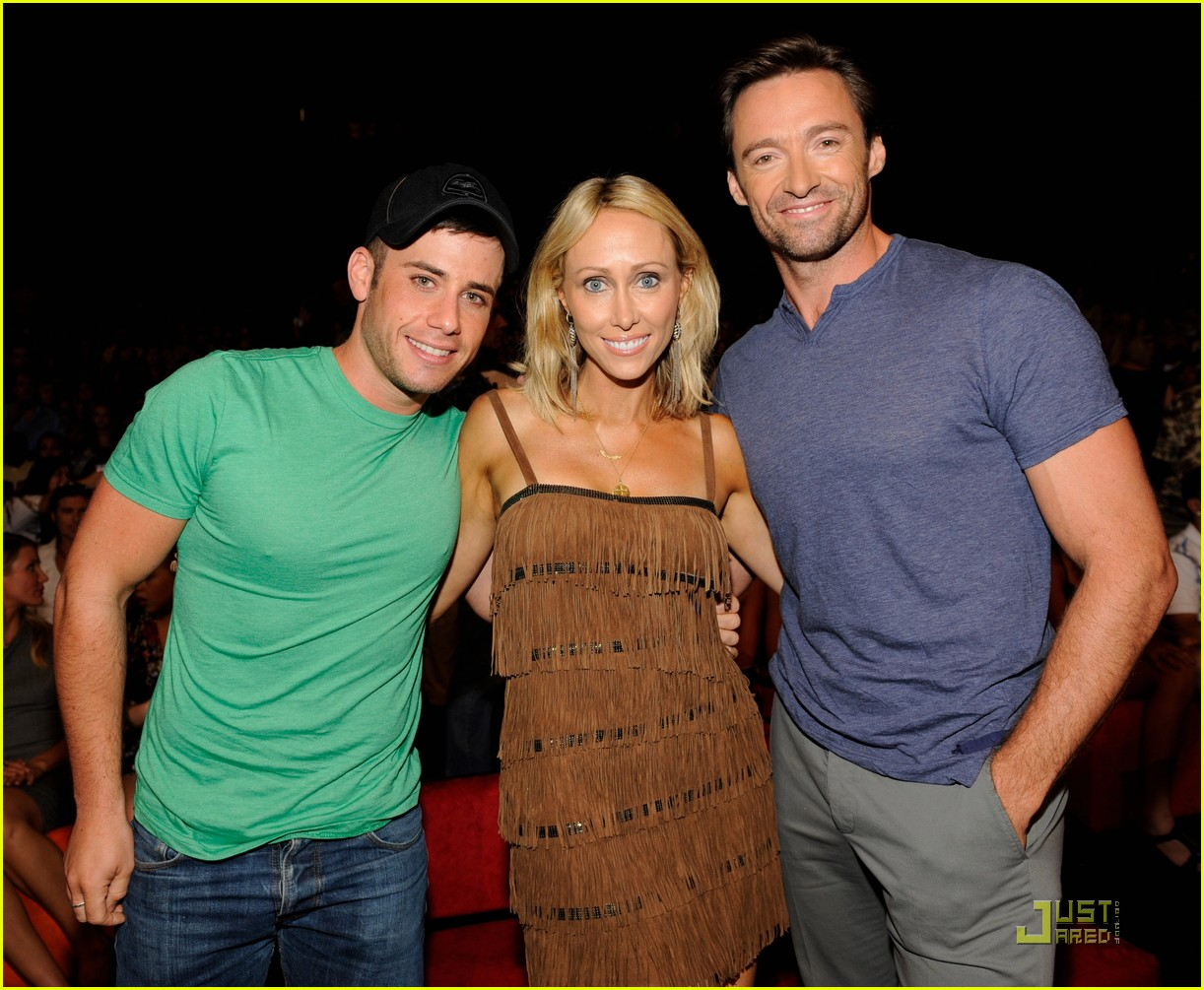 hugh jackman jordana brewster teen choice awards 01