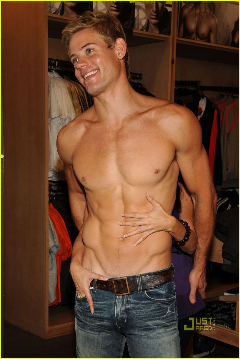 trevor donovan shirtless shopping 04