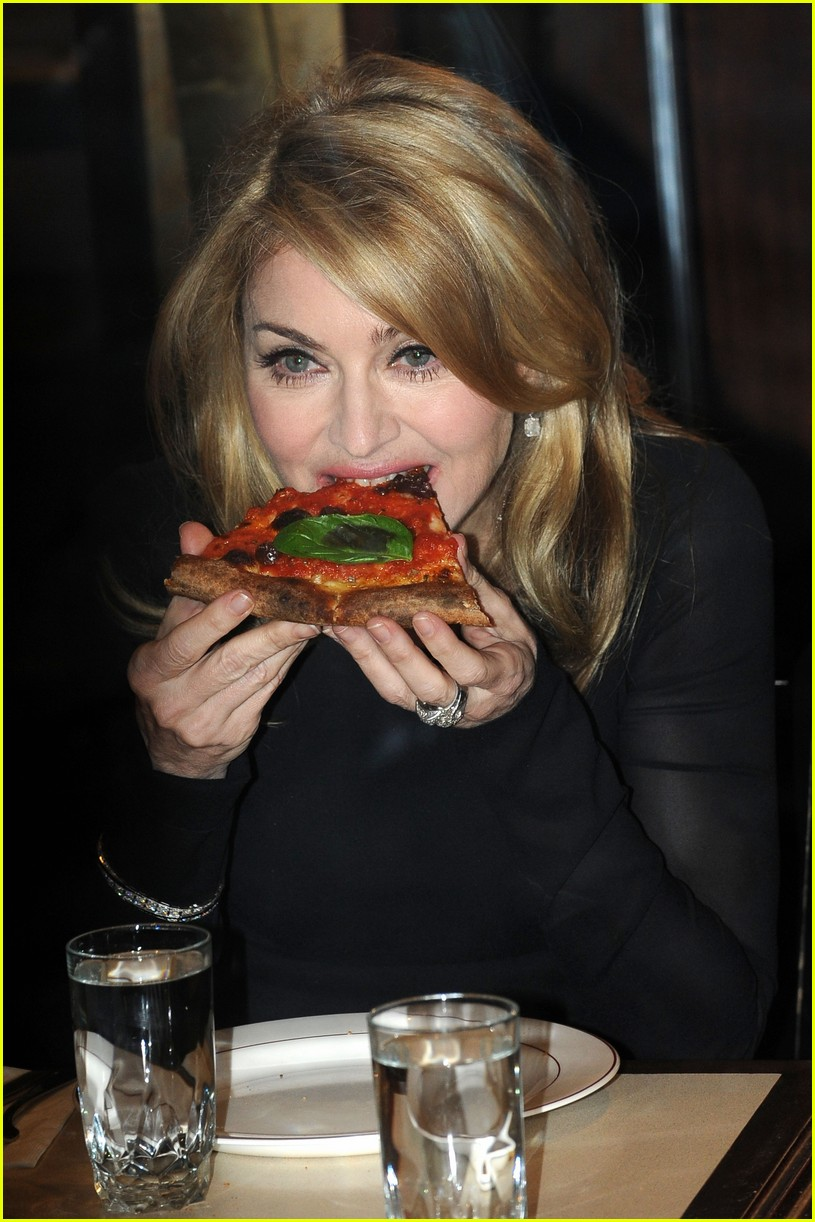 madonna pizza david letterman 022255932