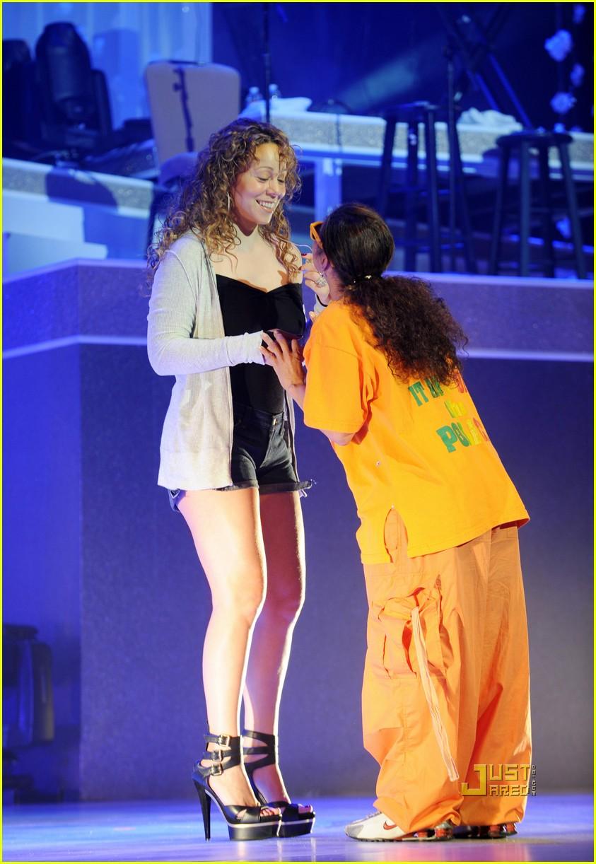 Mariah Carey Rehearsal Pics -- FIRST LOOK