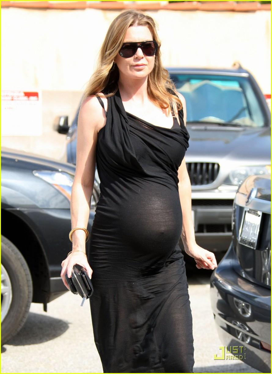 Pregnant American television personality Ellen Pompeo