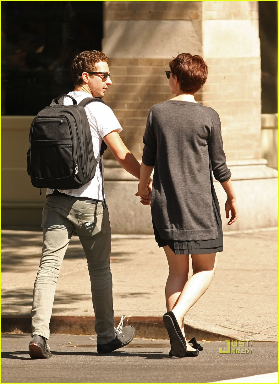 shia labeouf carey mulligan holding hands 03