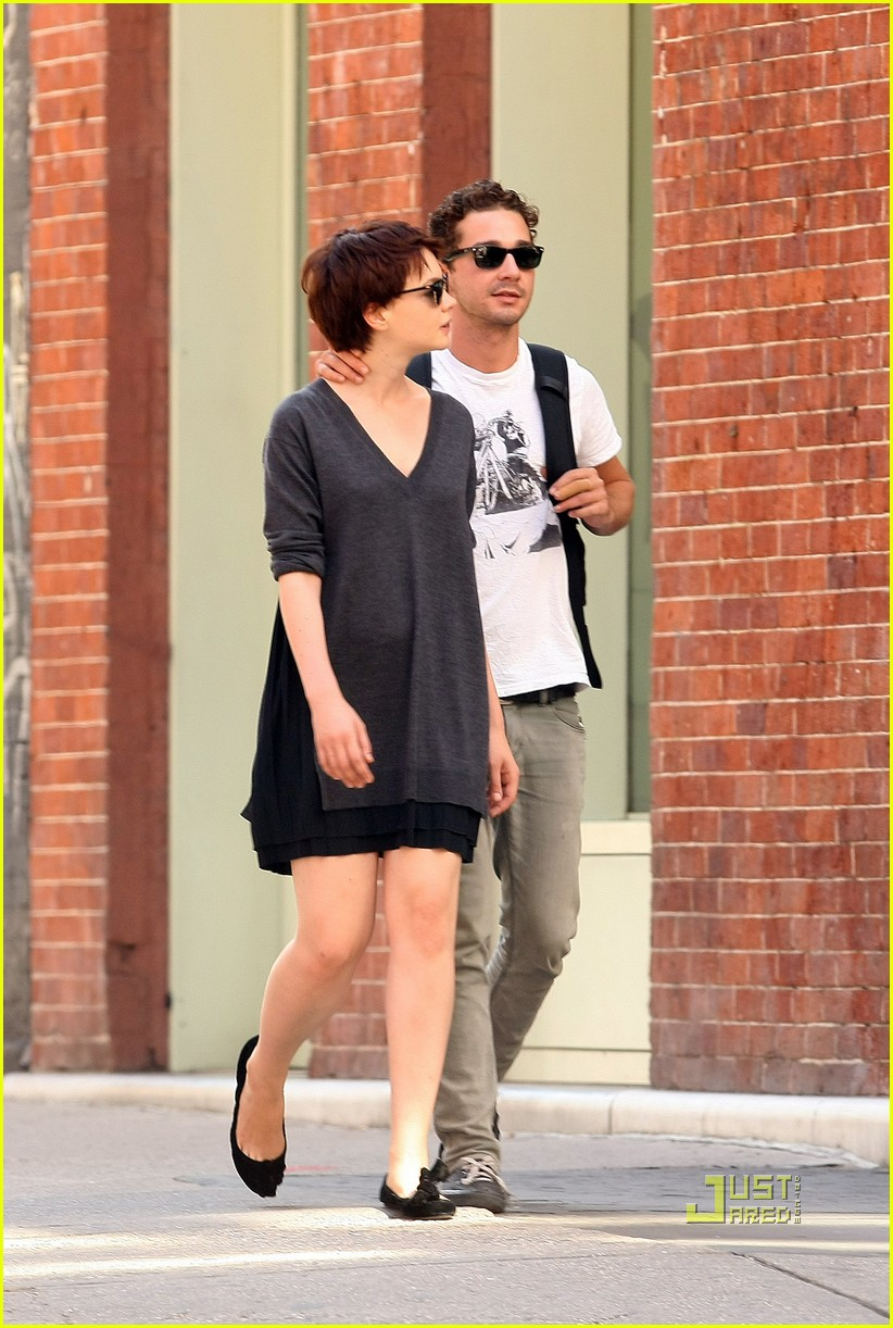 shia labeouf carey mulligan holding hands 06