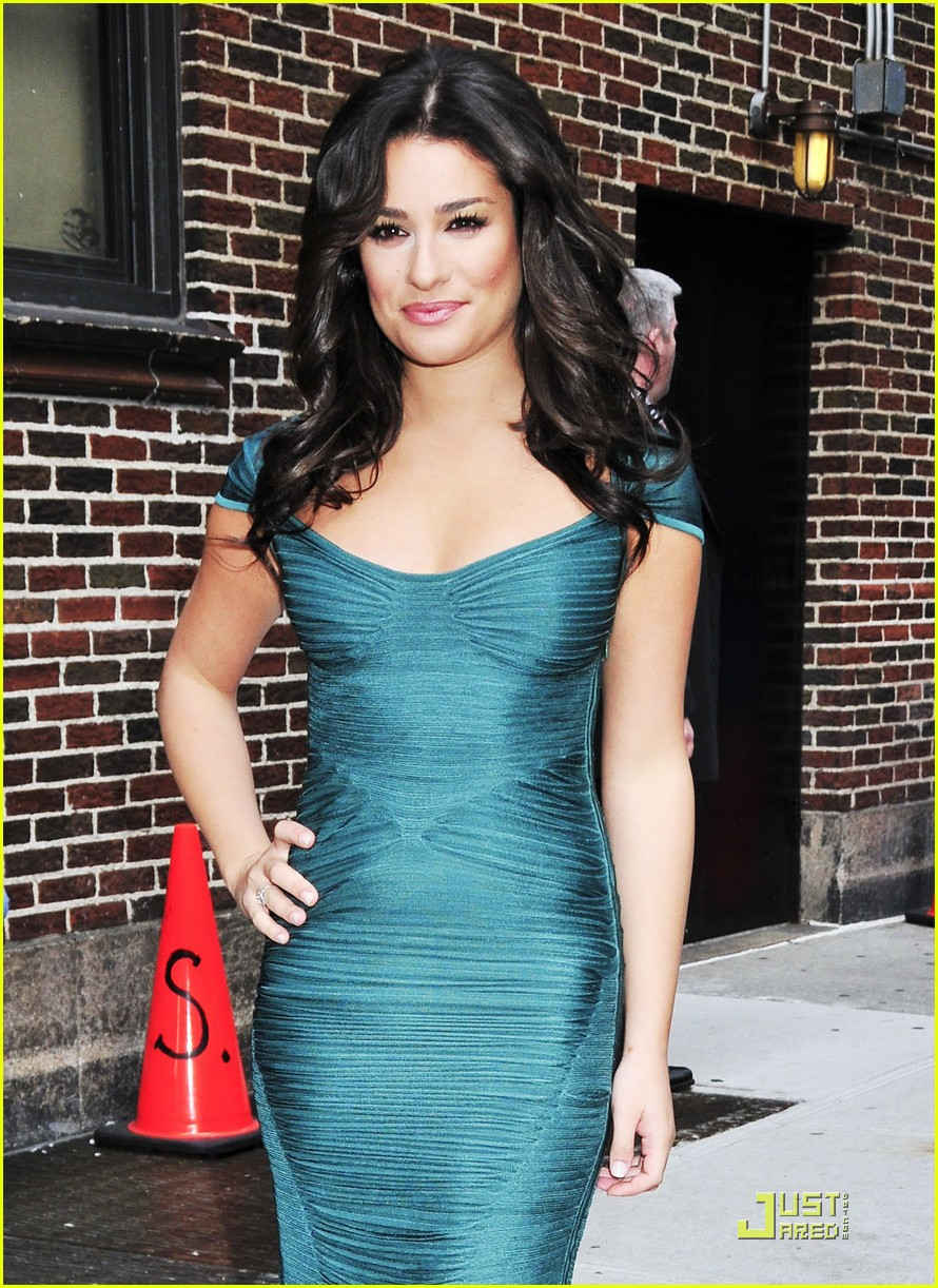 lea michele meets david letterman 04