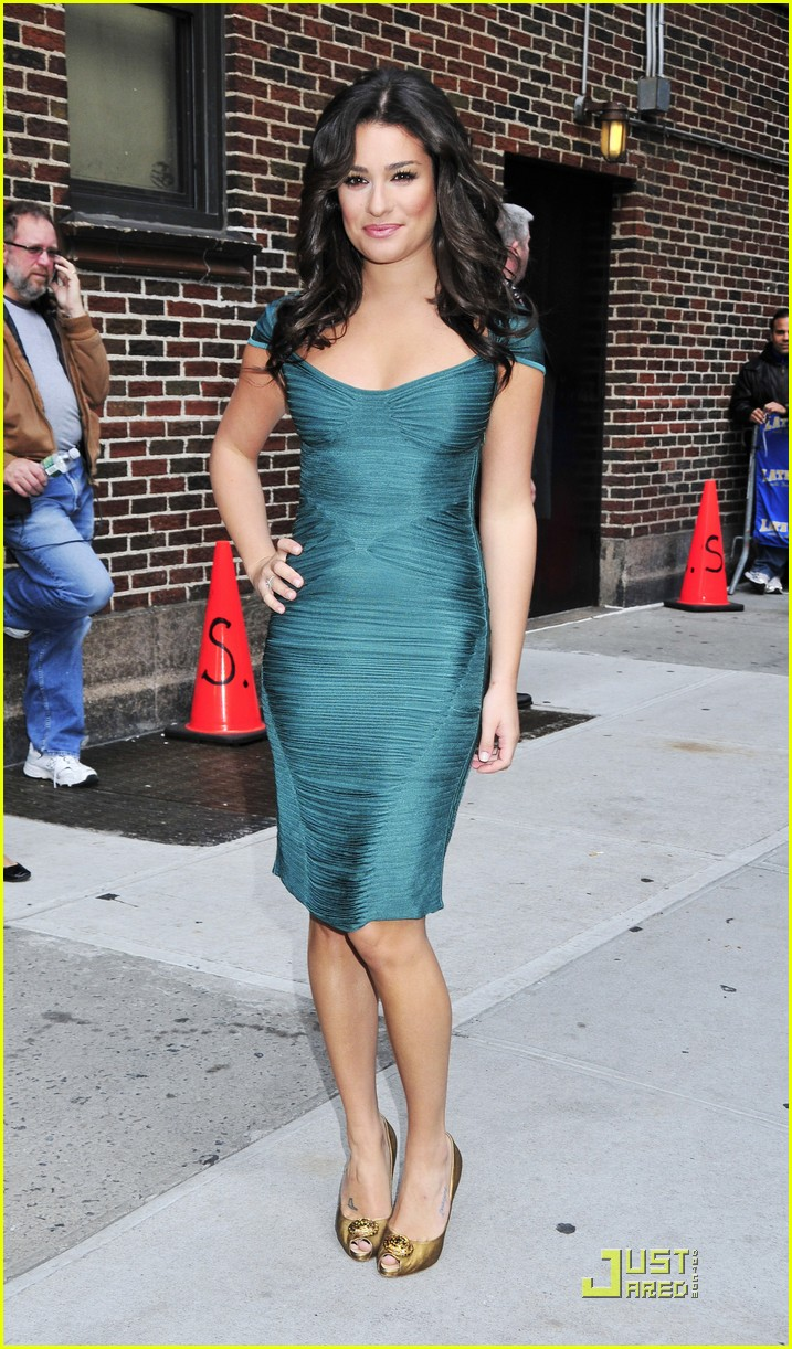 lea michele meets david letterman 102267132