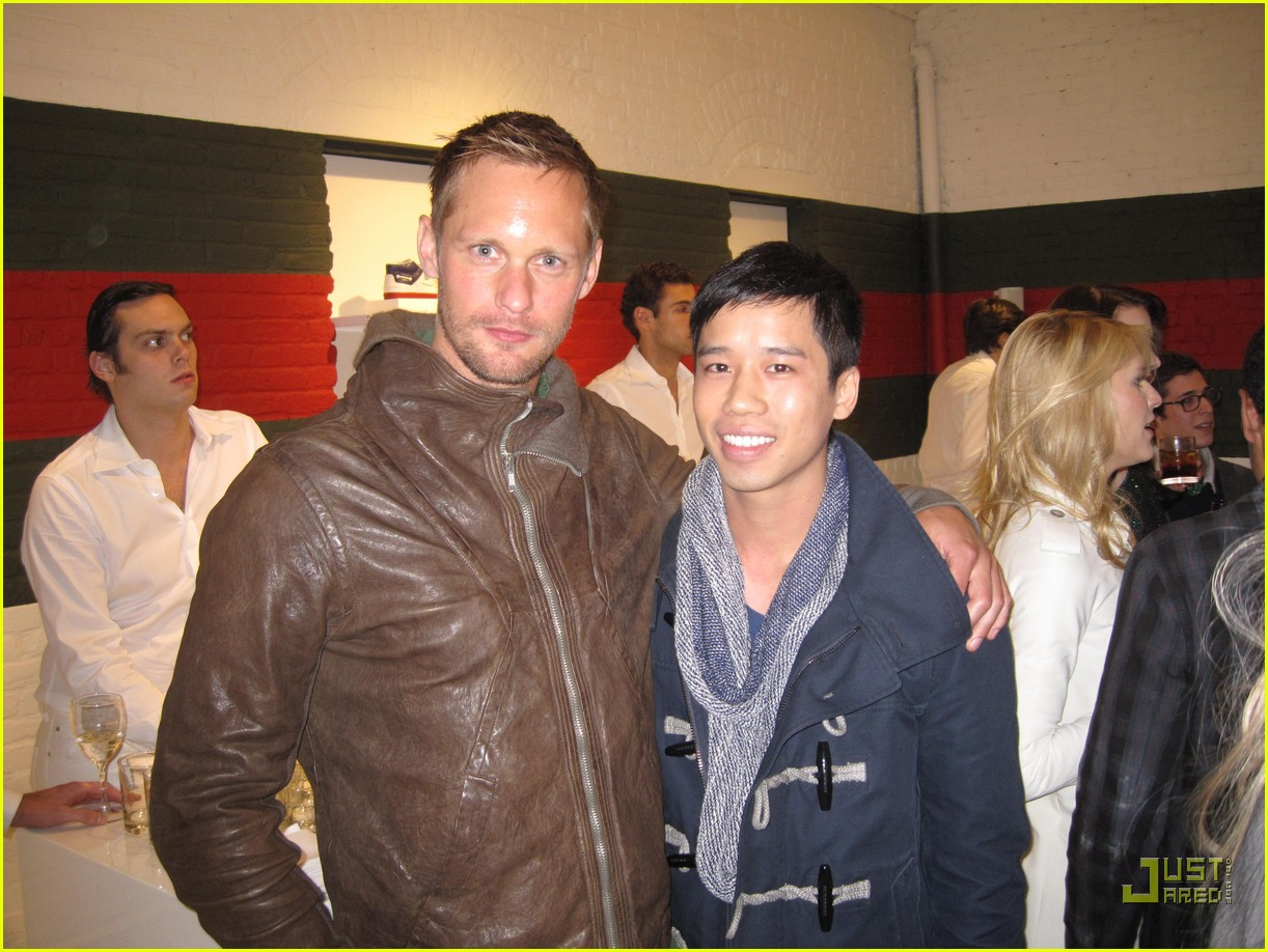 alexander skarsgard gucci launch party 01
