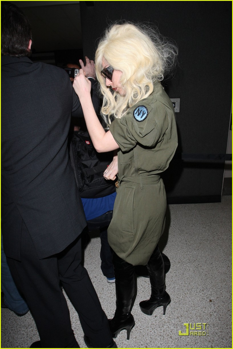 lady gaga lands at lax 132349572