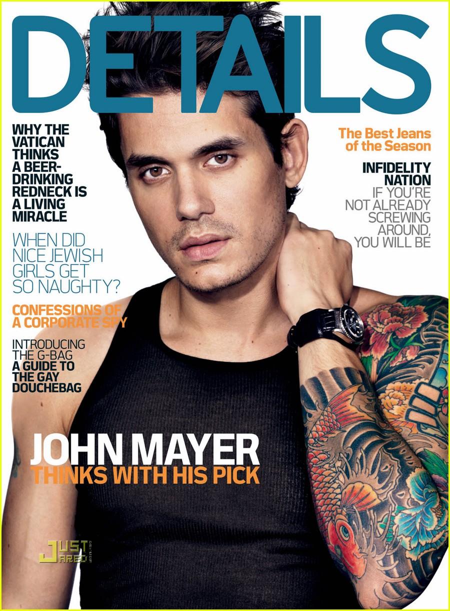 John Mayer Covers Details Magazine December 2009: Photo