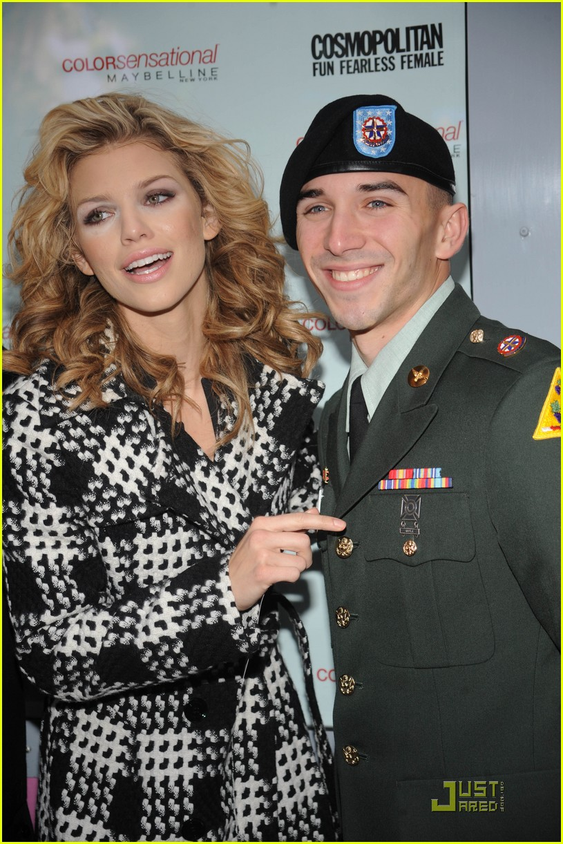 annalynne mccord kisses troops 16