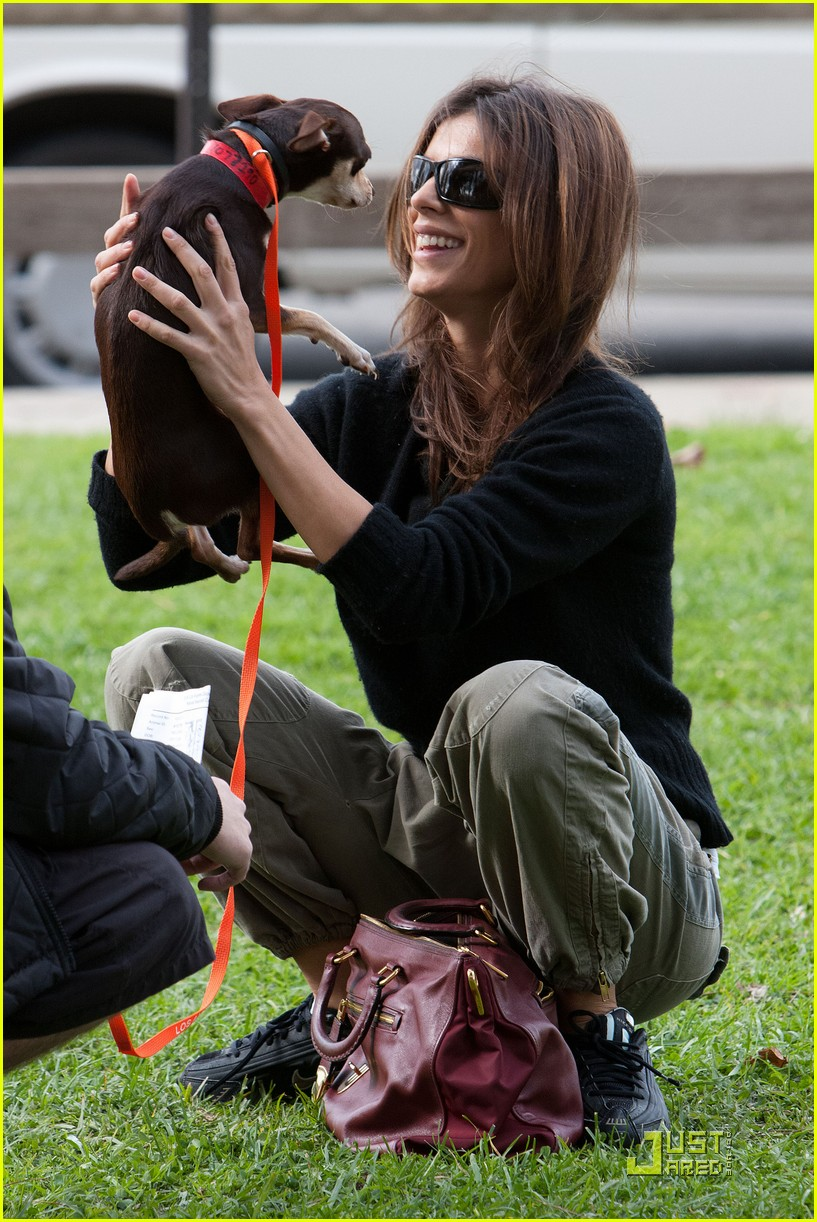 elisabetta canalis adopts a dog 18