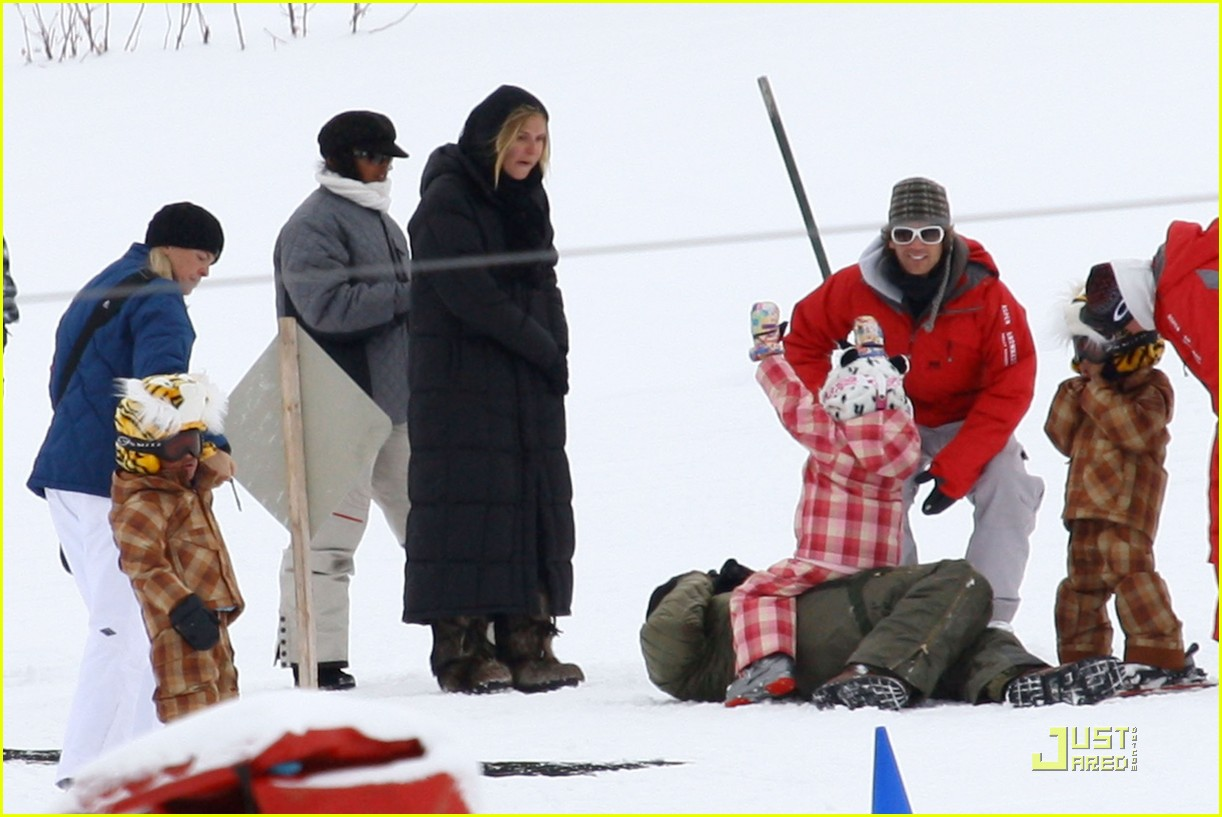heidi klum seal snowboard lessons 10