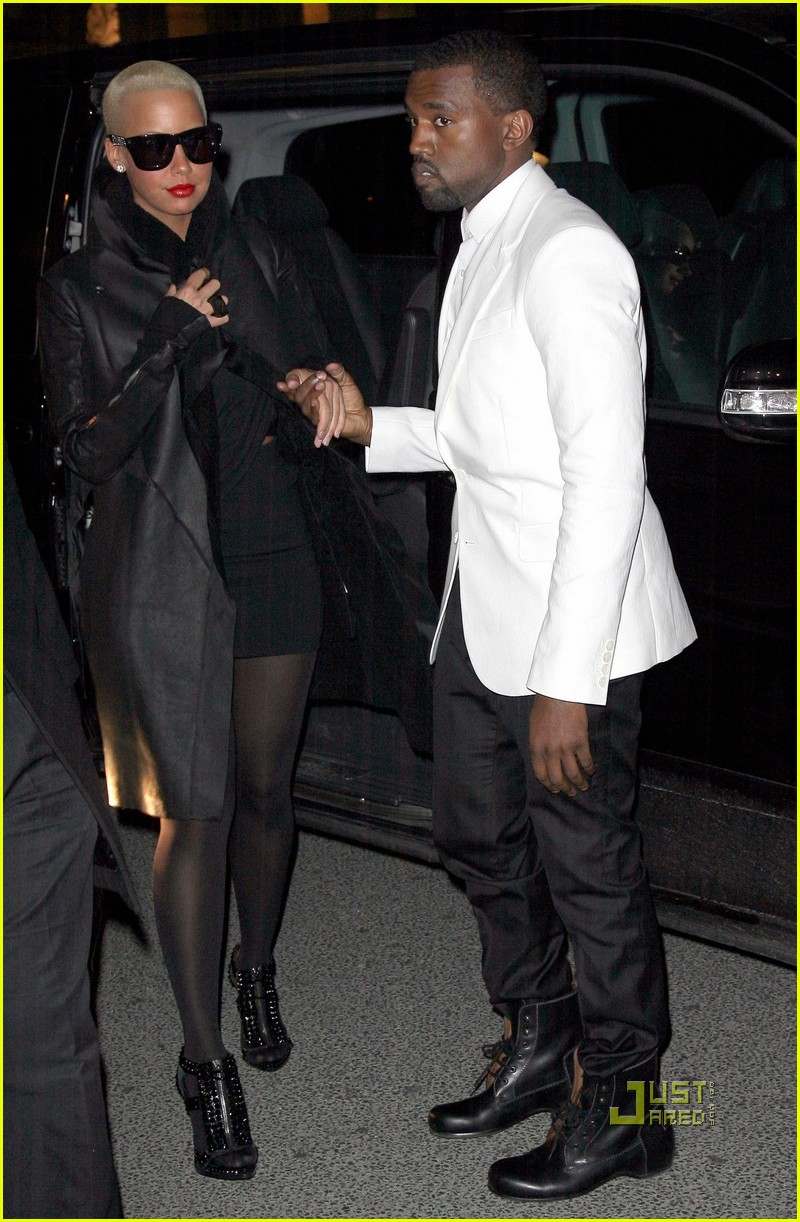 kanye west amber rose givenchy paris fashion week 01