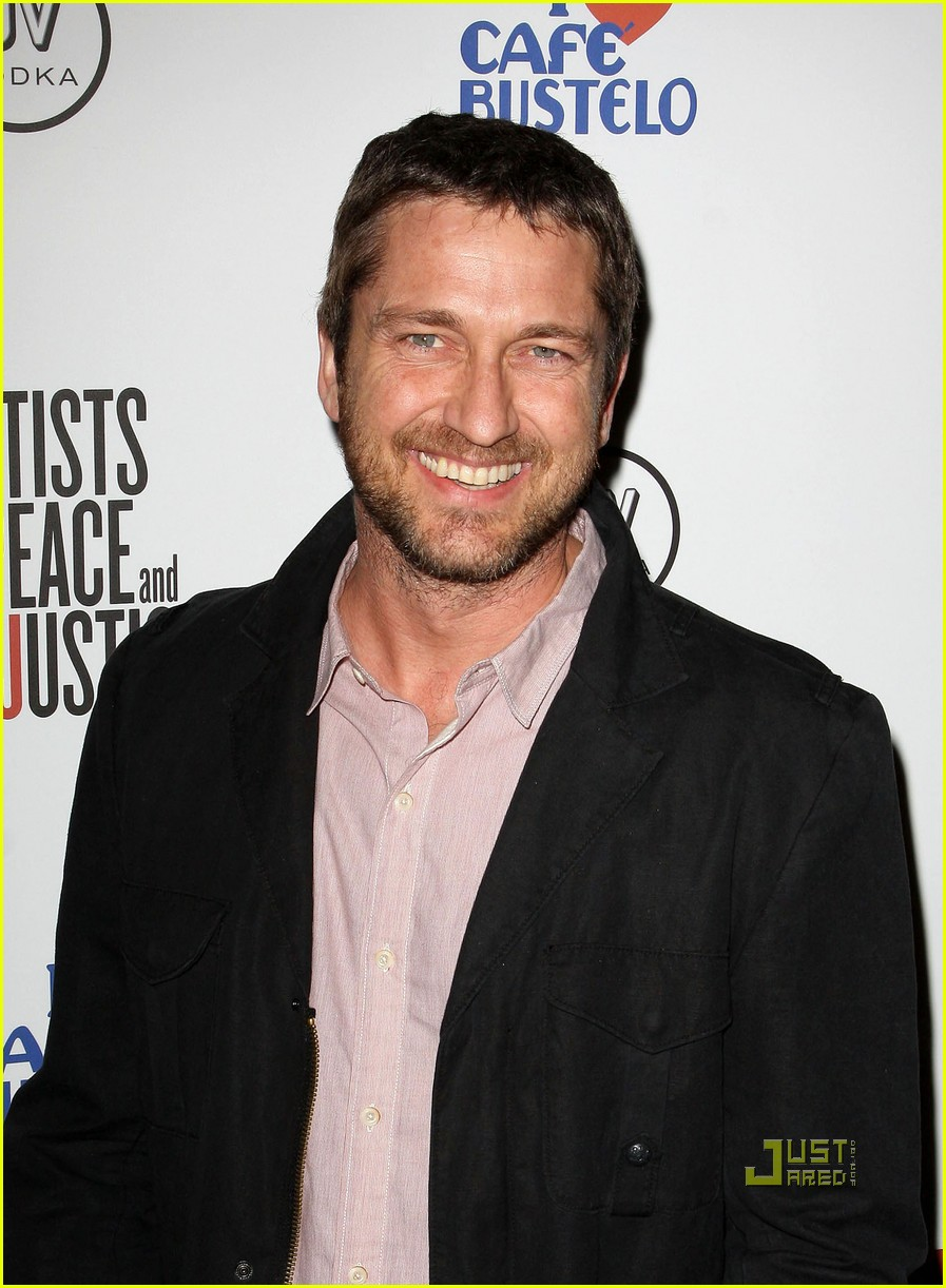 gerard butler artists for peace and justice 032412324