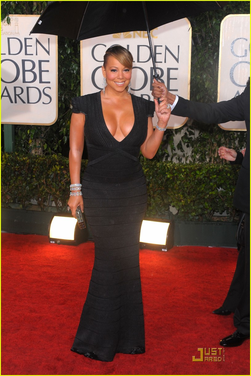mariah carey 2010 golden globe awards red carpet 022409270