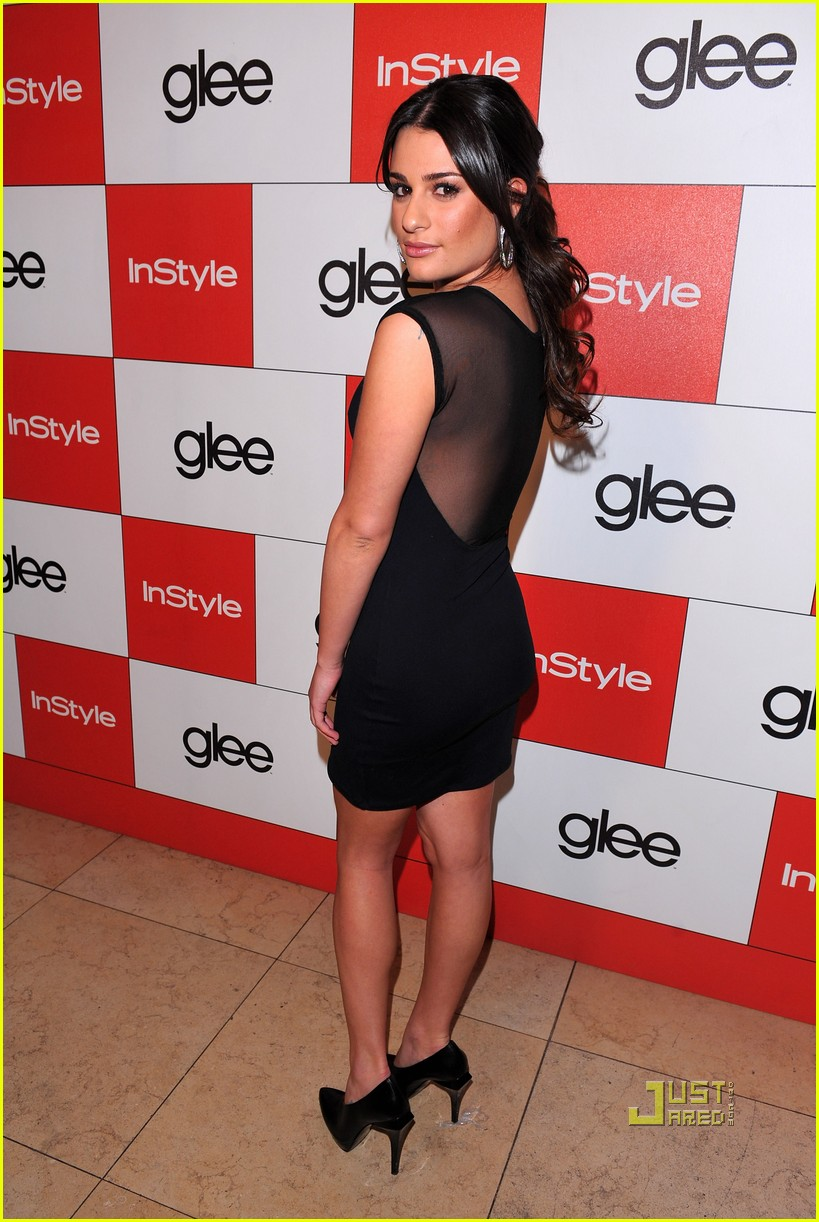 lea michele cory monteith glee picked up second season 03