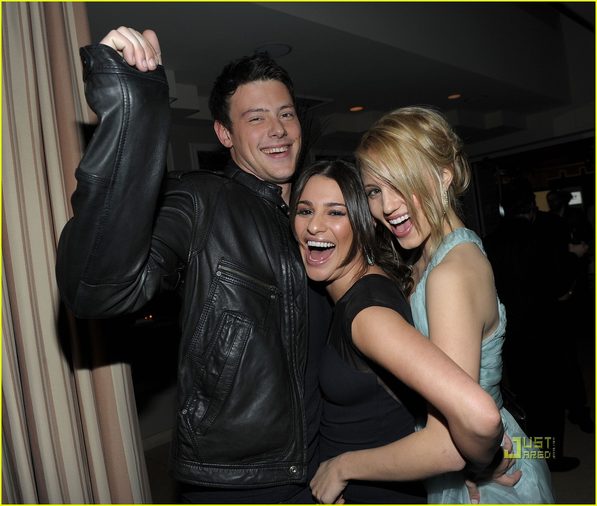 lea michele cory monteith glee picked up second season 04