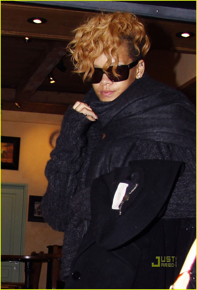 rihanna departs nice airport after nrj awards 10
