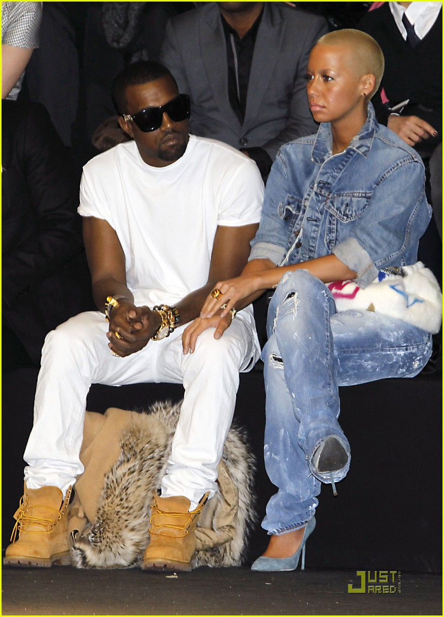 kanye west amber rose fashion furballs 092411538