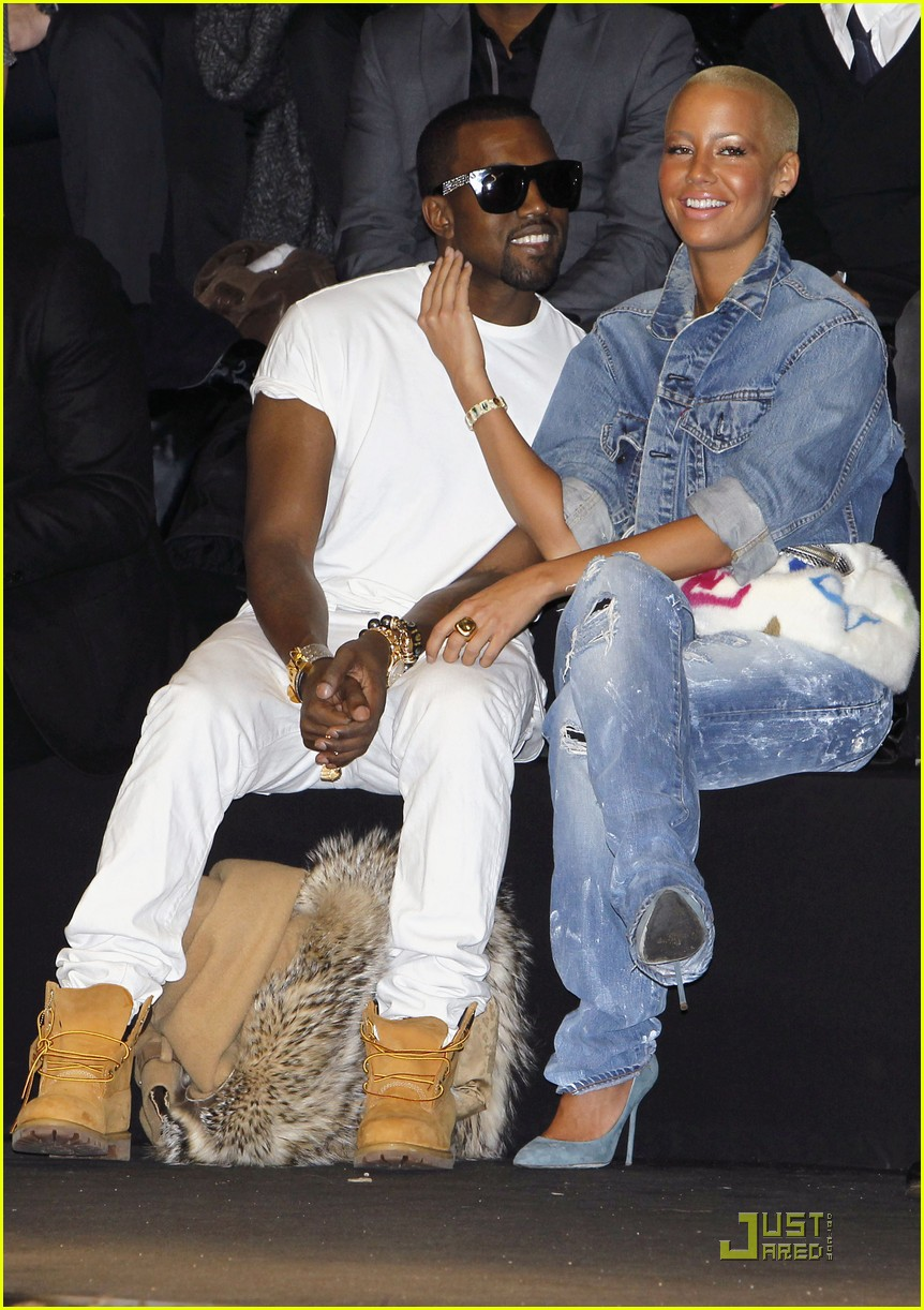 kanye west amber rose fashion furballs 132411542