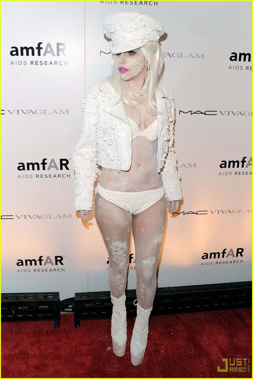 lady gaga amfar new york gala 09