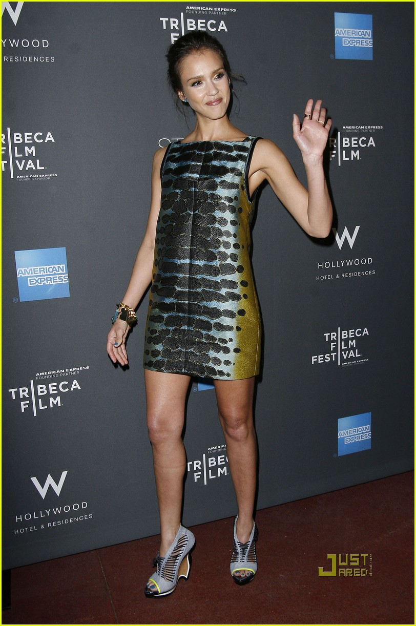 jessica alba tribeca film festival party 01